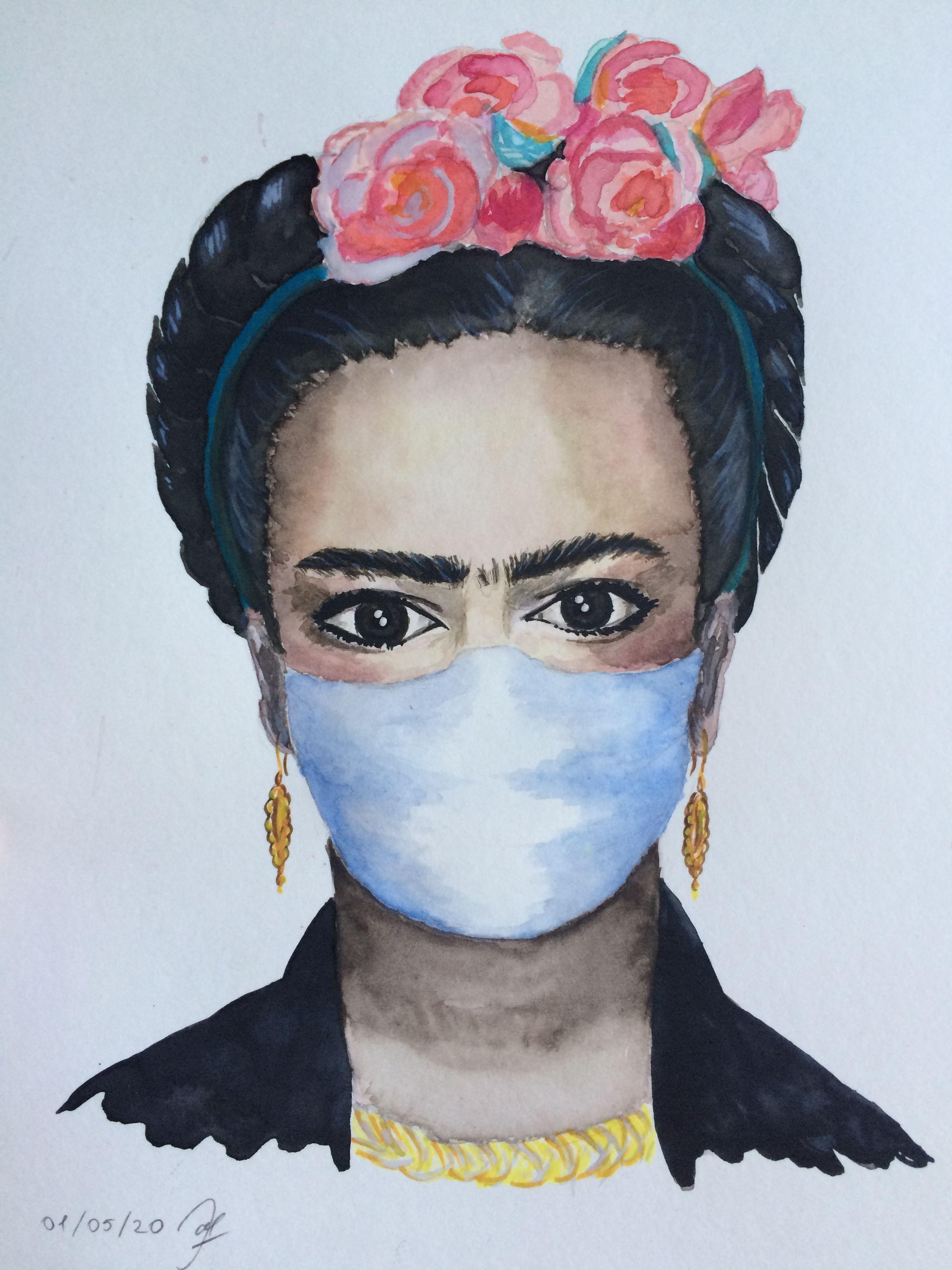 Frida Kahlo en el confinamiento in 2020 Frida kahlo
