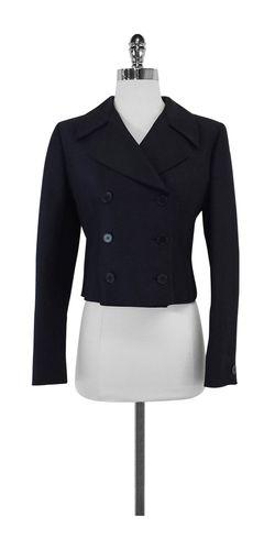Calvin Klein Silk Tuxedo Cropped Jacket