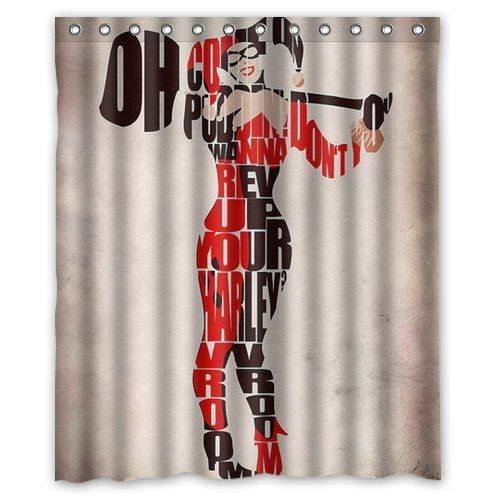 Harley Quinn Skull Personalized 3 Piece Bath Towel Set Comic Book Any Color