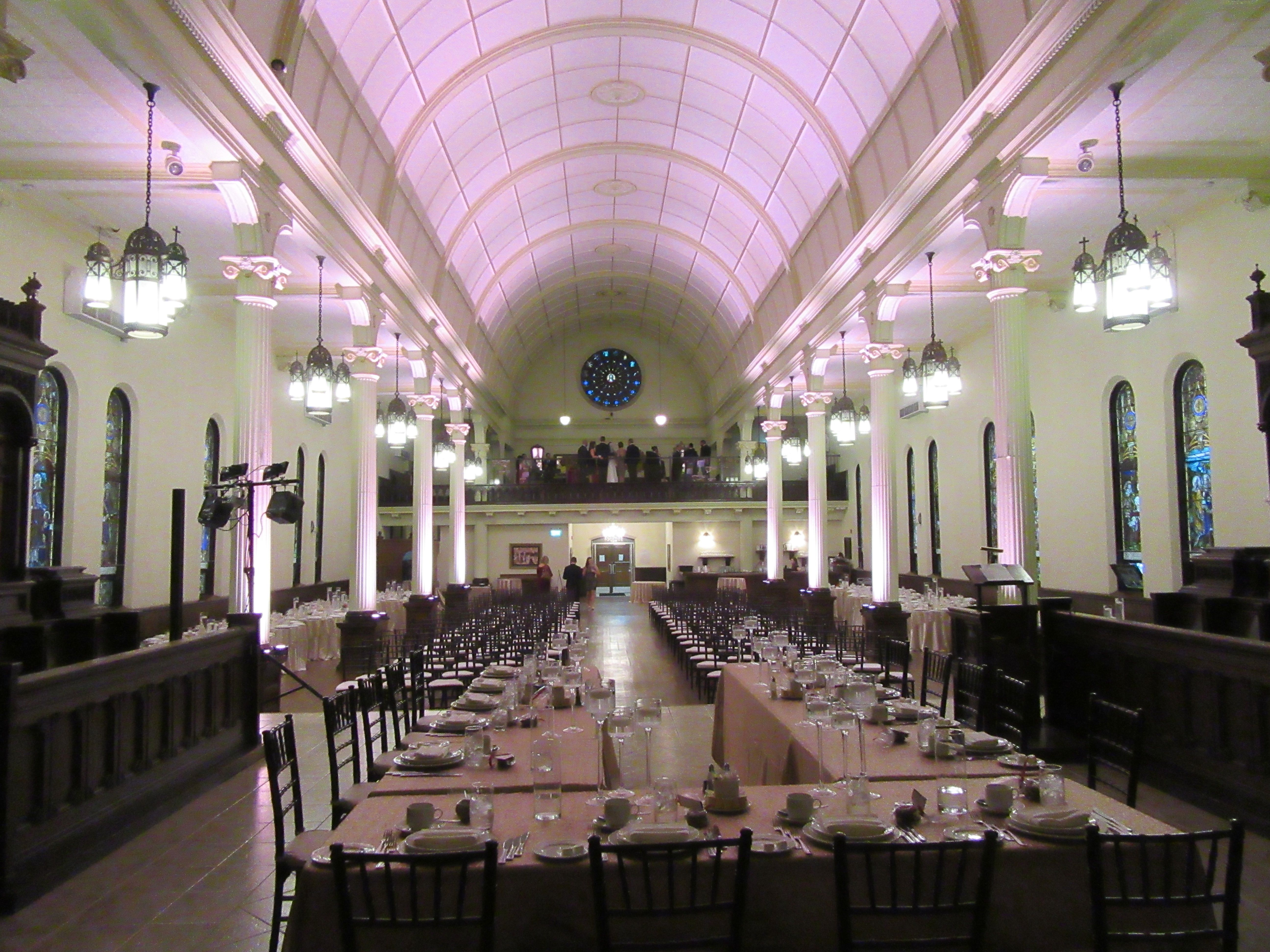 Lighting at the Waters Edge Event Centre in Windsor by