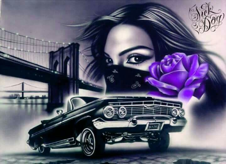 Pin by juan cordero on low rides in 2019 chicano art cholo art lowrider tattoo - Brown pride lowrider ...