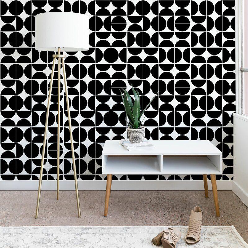 East Urban Home Peel And Stick Wallpaper Panel Wayfair Wallpaper Panels Mid Century Modern Wallpaper Peel And Stick Wallpaper