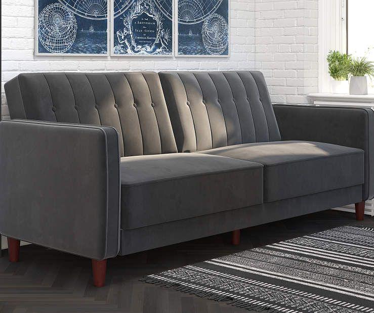 Best Irene Gray Velvet Tufted Futon Sofa In 2019 Futon Sofa 400 x 300