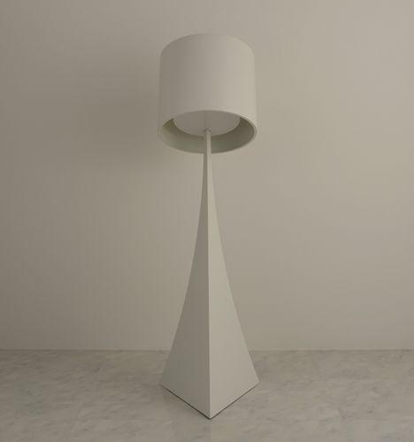 SOSO floor lamp that tilts backwards by Mifune Design Studio