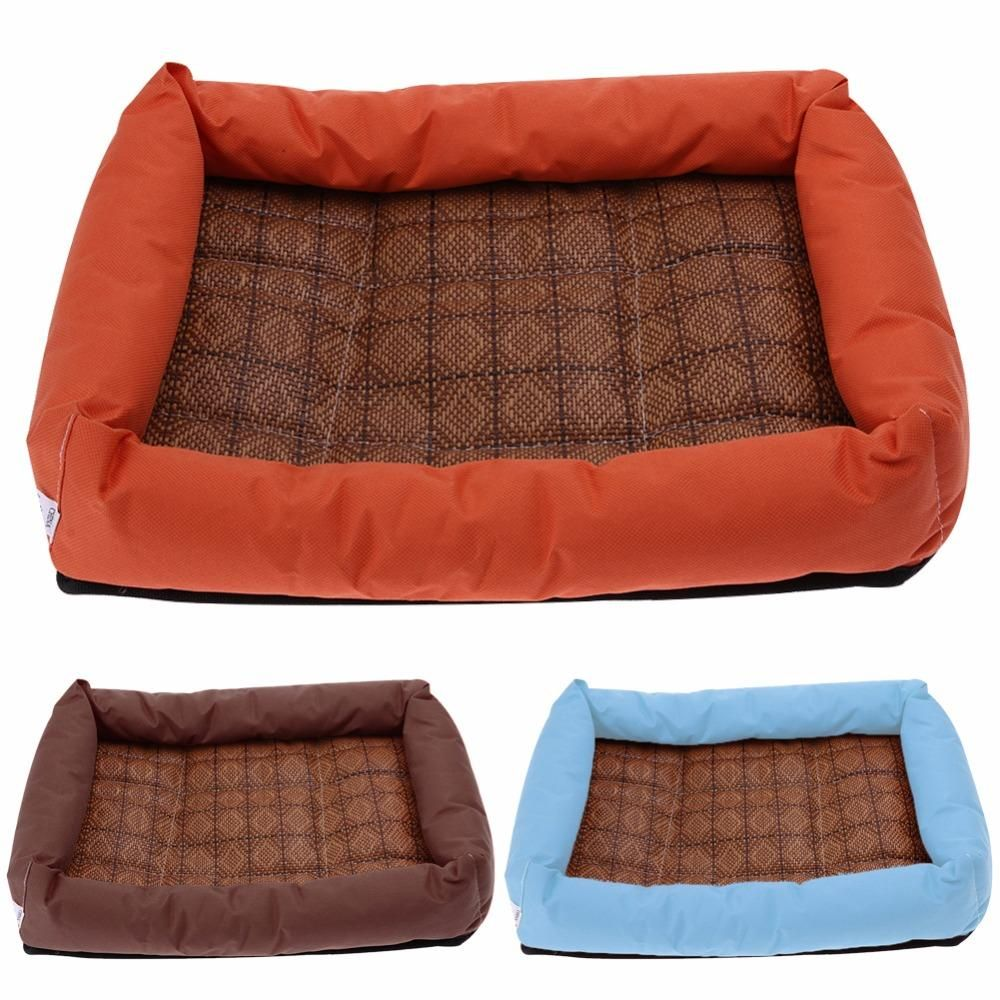 Summer Pet Bamboo Cooling Mat Bed for Small Medium Large