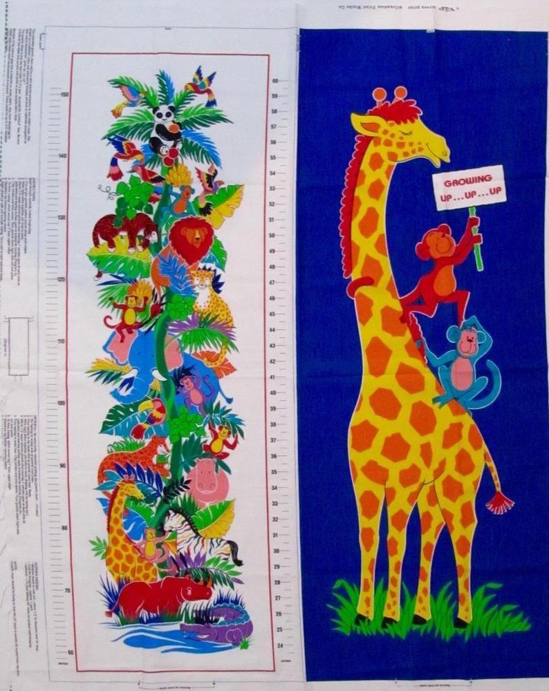 Jungle print giraffe growth chart fabric panel to sew hang 45x35 jungle print giraffe growth chart fabric panel to sew hang 45x35 vip cranston geenschuldenfo Images