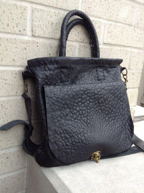 Black tote bag  black lamb leather weekender by LUSCIOUSLEATHERNYC, $399.00