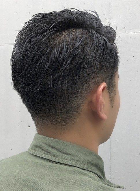 外国人風 刈り上げバーバーショート 髪型メンズ アジアの男性のヘア