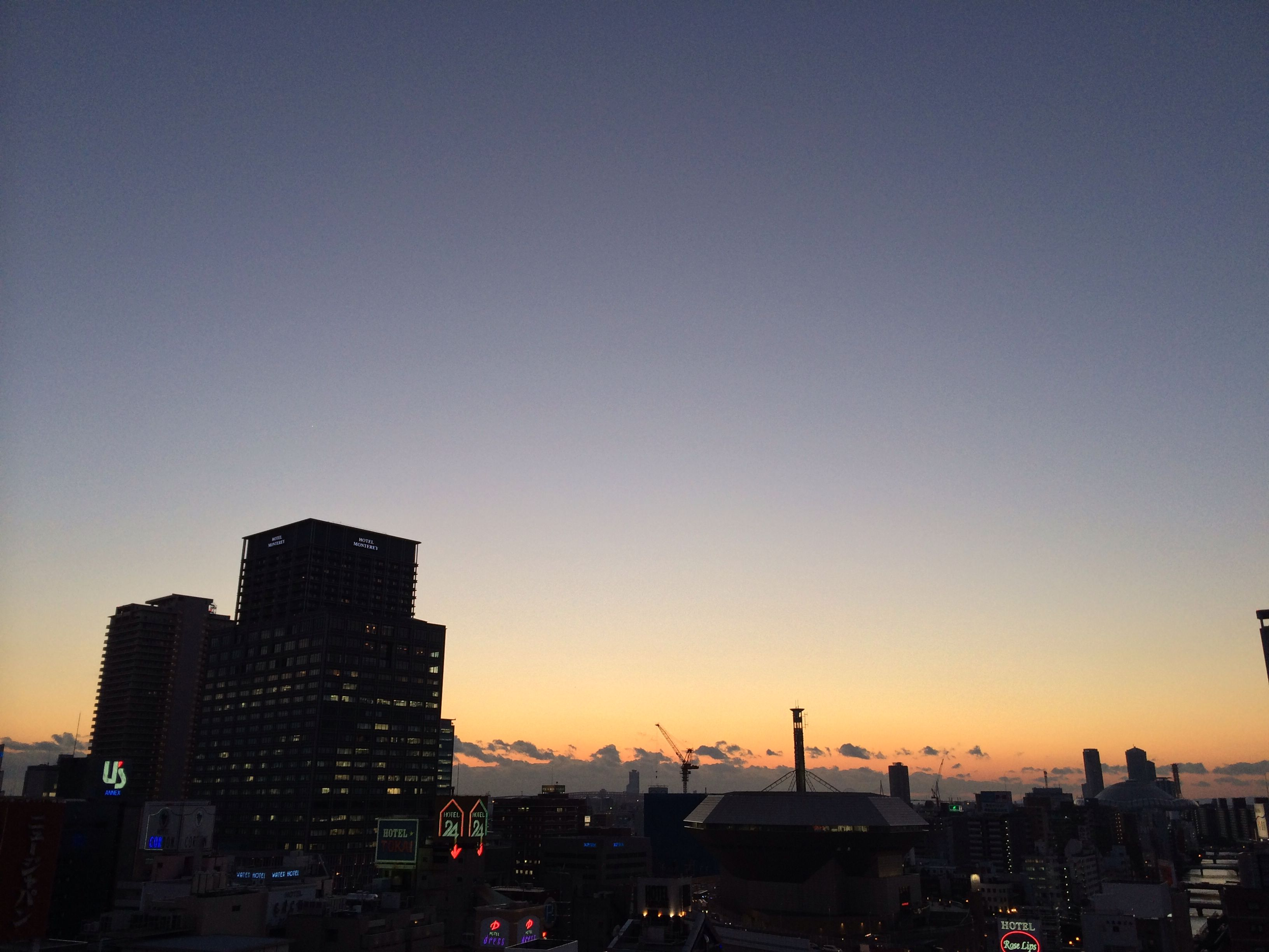 Sunset time of Christmas Eve