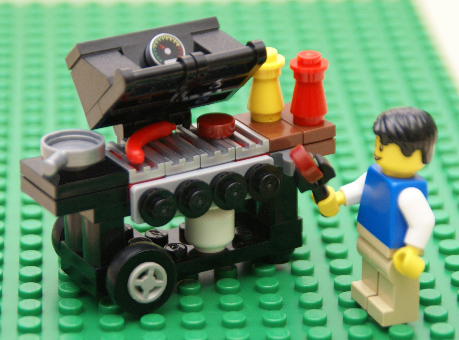 Instructions To Build A Barbecue Out Of Lego Lego Pinterest