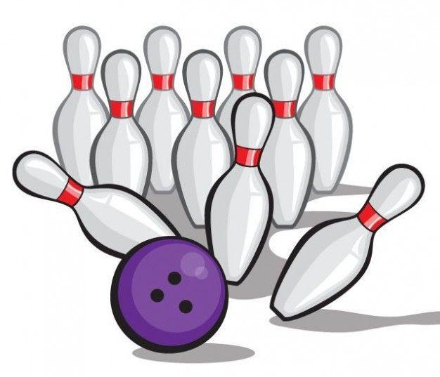 Bowling Ball Vector Crashing into Pins - POW!   Sport   Pinterest ...