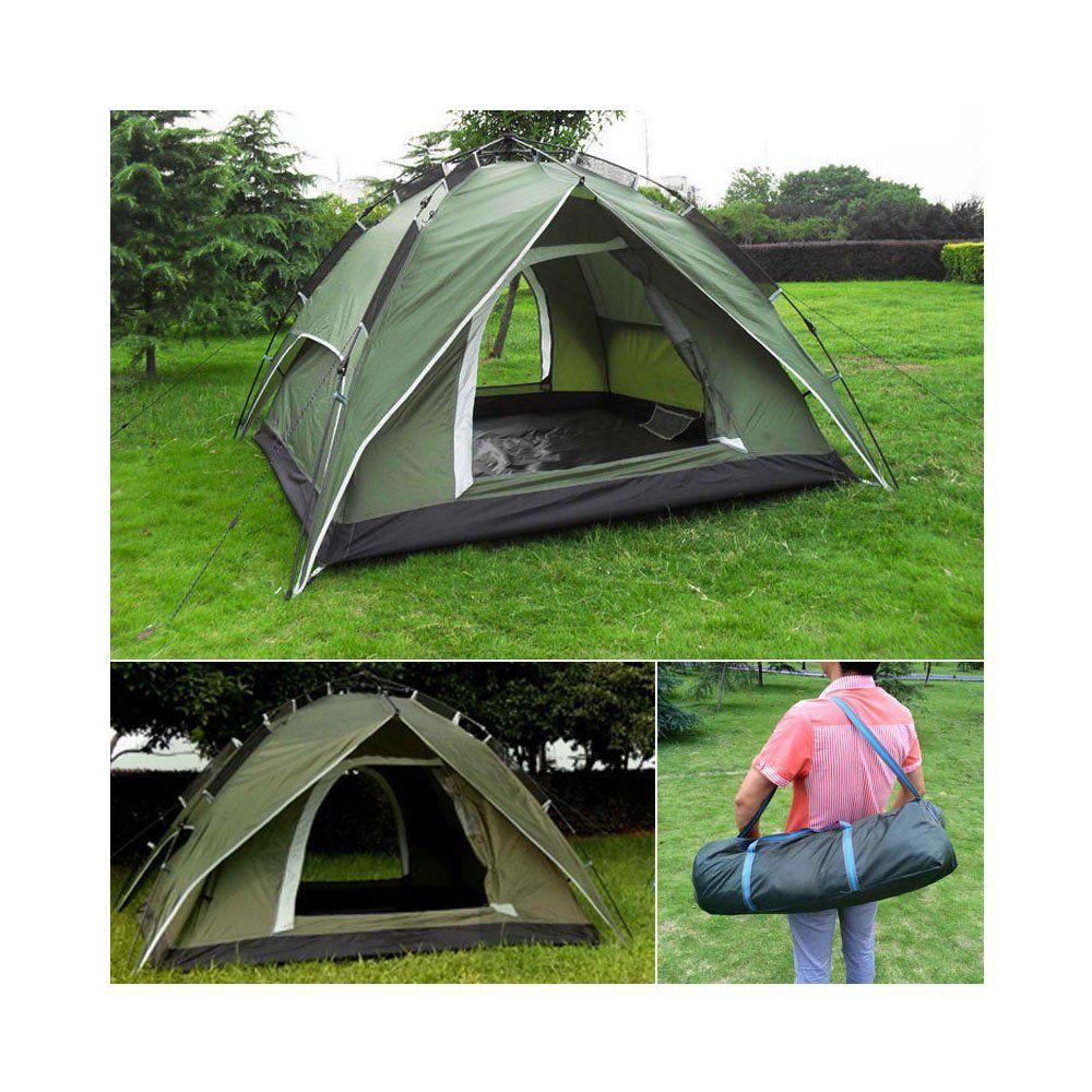 NEW 4-Person Green Double layer Waterproof Family C&ing Hiking Instant Tent ** Trust  sc 1 st  Pinterest & NEW 4-Person Green Double layer Waterproof Family Camping Hiking ...