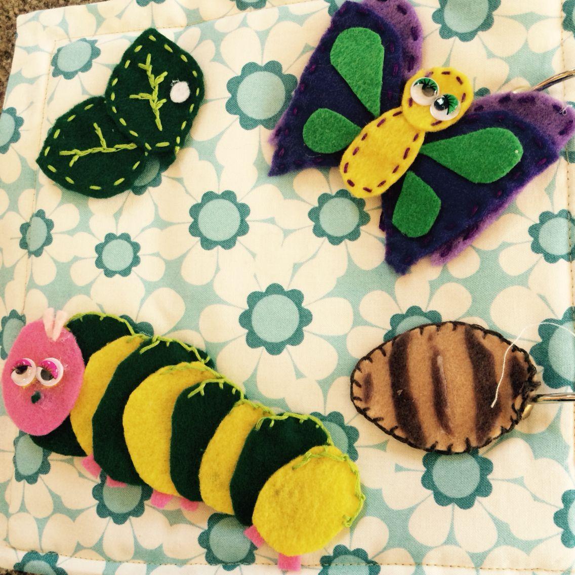 Life cycle of a butterflyVelcro imagens) Livros de