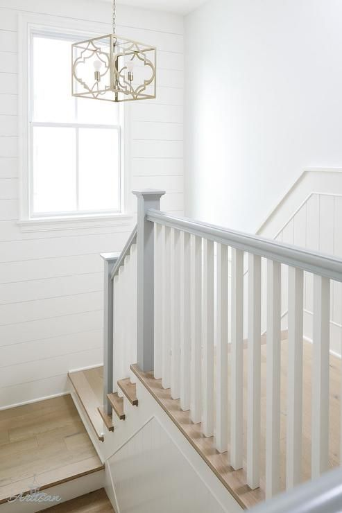 Best A Staircase Combines Dove Gray And Natural Wood Floors 400 x 300