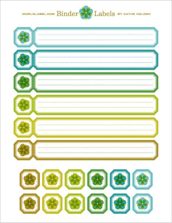 Binder Labels in a vintage theme by Cathe Holden Home - printable binder spine labels