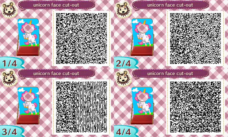 Très Animal Crossing: New Leaf - unicorn photo stand QR-code | Animal  DM19