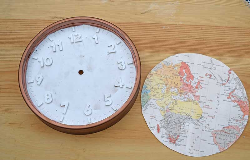Fun And Easy IKEA Clock With A World Map | {DIY} Craft Ideas ... Ikea World Map Clock on louis vuitton world clock, at&t world clock, sony world clock, sharp world clock, apple world clock, google world clock,