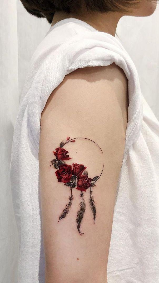 Photo of Füttere deine Tintensucht mit 50 der schönsten Rose Tattoo Designs für mich …,Füttere deine…