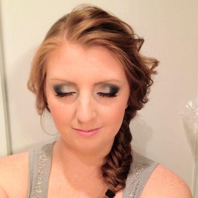 Smokey eye and fishtail braid!
