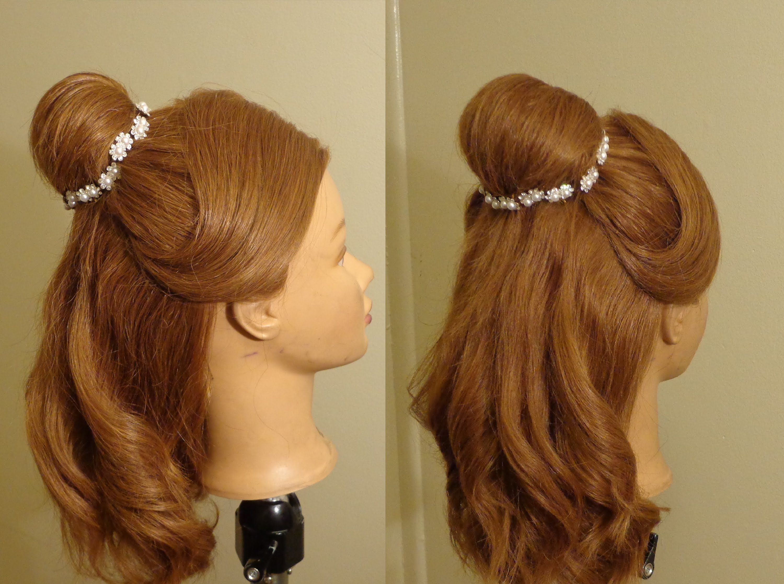 Beauty And Beast Belle S Hairstyle Belle Hairstyle Kids Hairstyles Beauty And The Beast Costume