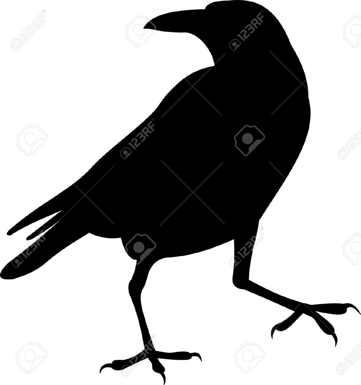 Flying Raven Crow Metal Wildlife Wall Yard Art Silhouette | Ravens ...