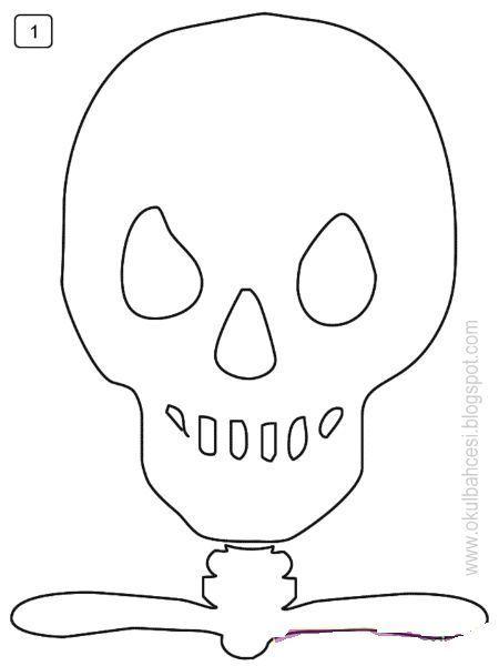 Iskelet Etkinliği Kağıt Işleri Halloween Skeleton Ve