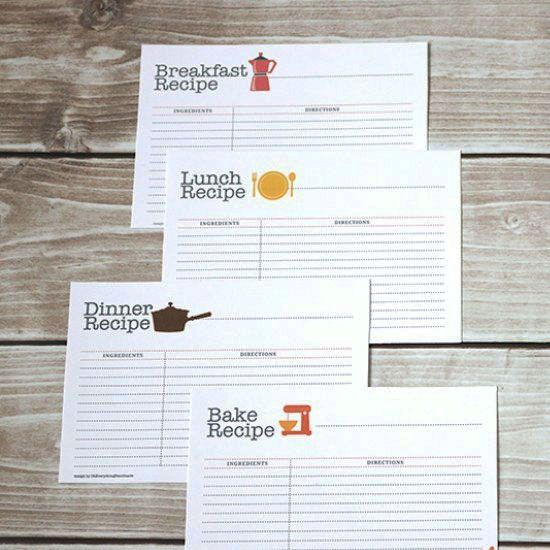 This set of writable recipe cards are so much fun, and come with - recipe card