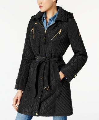 Michael Michael Kors Water Resistant Quilted Coat Shopping