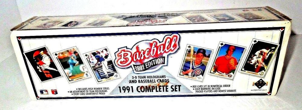 1991 Series 1 Upper Deck Baseball Cards Complete Set Upperdeck