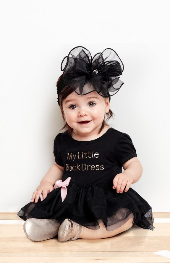 e3e5dc296bcfd Baby fashion   Kids' clothes   'My Little Black Dress' tutu dress    Headwrap   The Children's Place