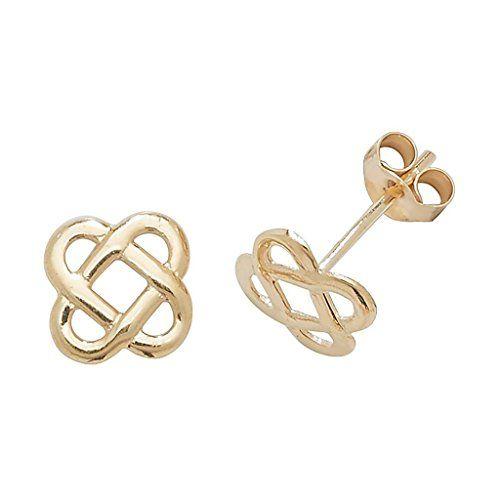 9ct GoldSapphire Celtic design Stud Earrings hxLp7VXUe