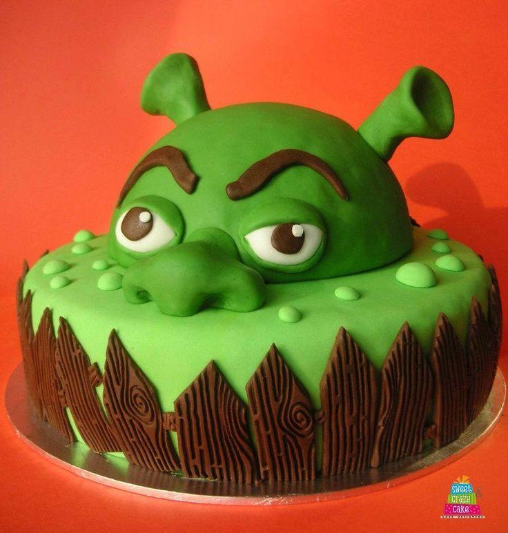 Enjoyable Sherk Cake Shrek Cake Cartoon Cake Cupcake Cakes Funny Birthday Cards Online Benoljebrpdamsfinfo
