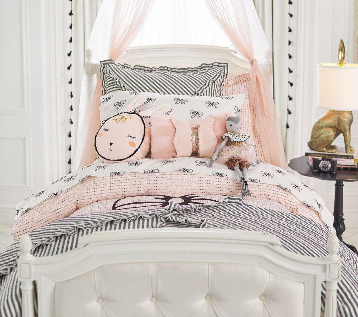 The Emily & Meritt Ruffle Stripe Comforter Little girl