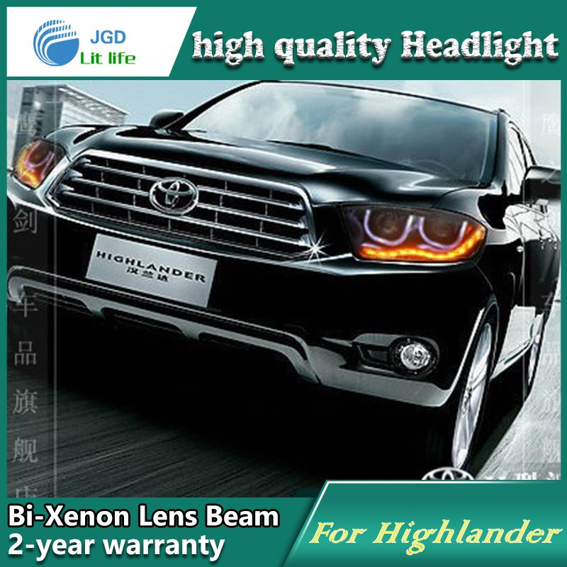 High Quality Car Styling For Toyota Highlander 2009 2011 Headlights Led Headlight Drl Lens Double Beam Hid Xenon Car Acce Toyota Highlander Car Car Accessories