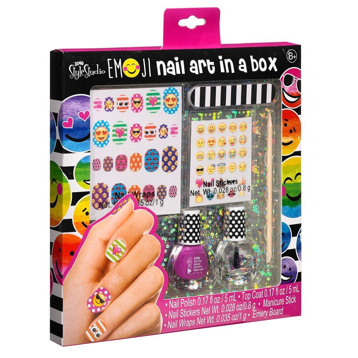 Nail Art In A Box Emoji Gifts For Girls Tween Teen Nails
