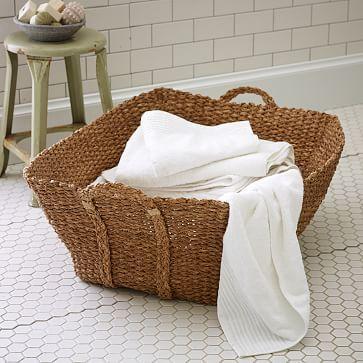 Braided French Laundry Basket Rustic Storage Storage Baskets