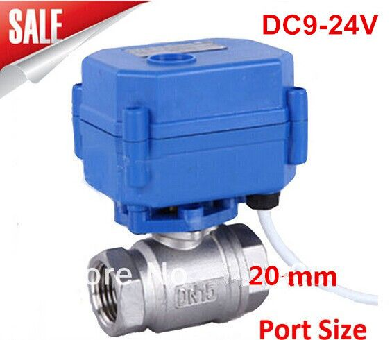 """(Buy here: http://appdeal.ru/2mn6 ) Motorized Ball Valve 3/4"""" DN20 DC9-24V ,CR03 Wire 2 way Stainless Steel 304 Electric Ball Valve for just US $38.60"""