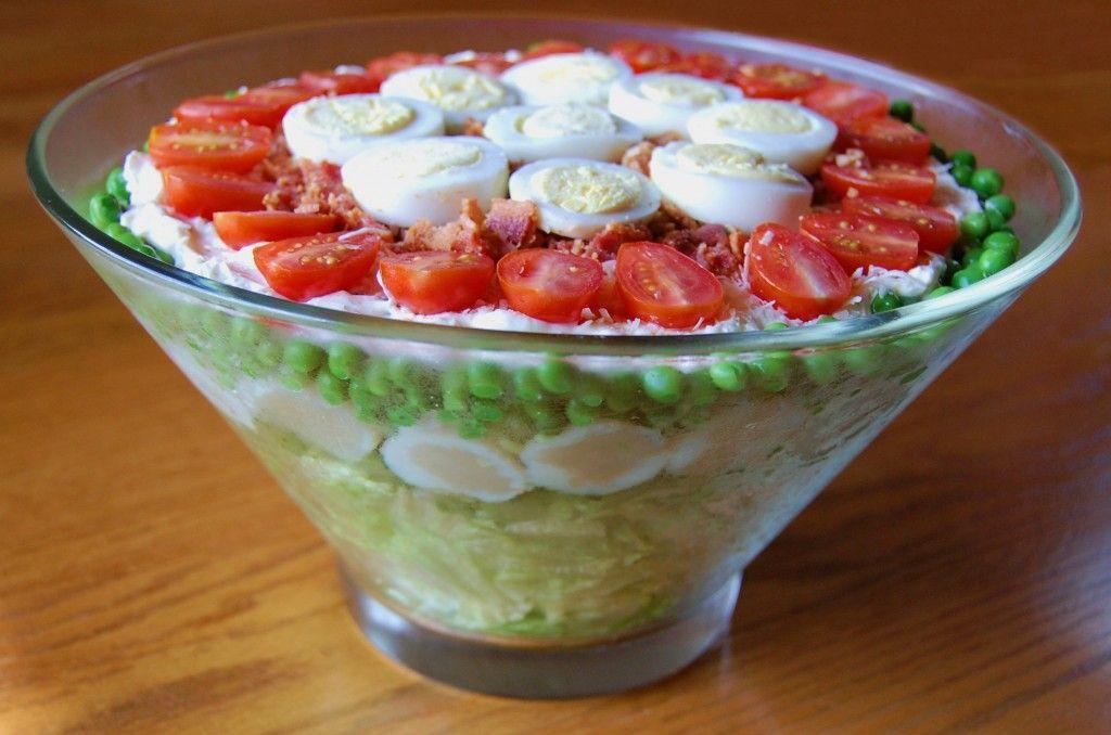 Seven Layer Salad Recipe Layered Salad Seven Layer Salad Bacon Lettuce Tomato