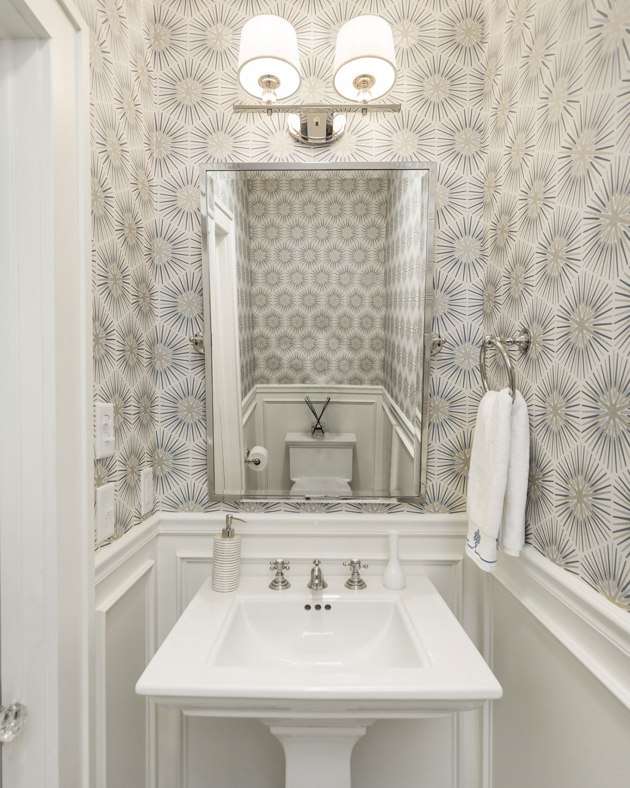 design by camden grace interiors zoffany wallpaper spark wallpaper blue and white wal new bathroom wallpaper gray wallpaper bathroom trendy bathroom tiles wallpaper bathroom