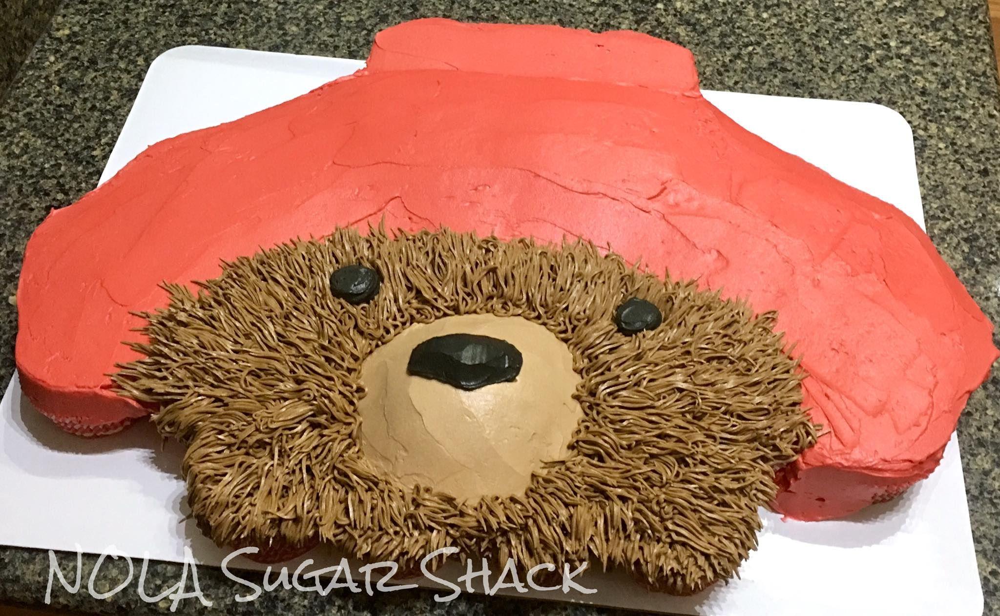 Paddington inspired pull-apart cupcake cake by NOLA Sugar Shack