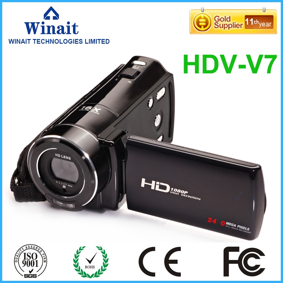 "79.99$  Watch now - http://aliyrv.worldwells.pw/go.php?t=32779860228 - ""Free shipping Protable Camcorder 24mp DVR Full HD 1080P 16X Zoom 3""""Touch Digital Video Camera DV Marco Lens camera"""
