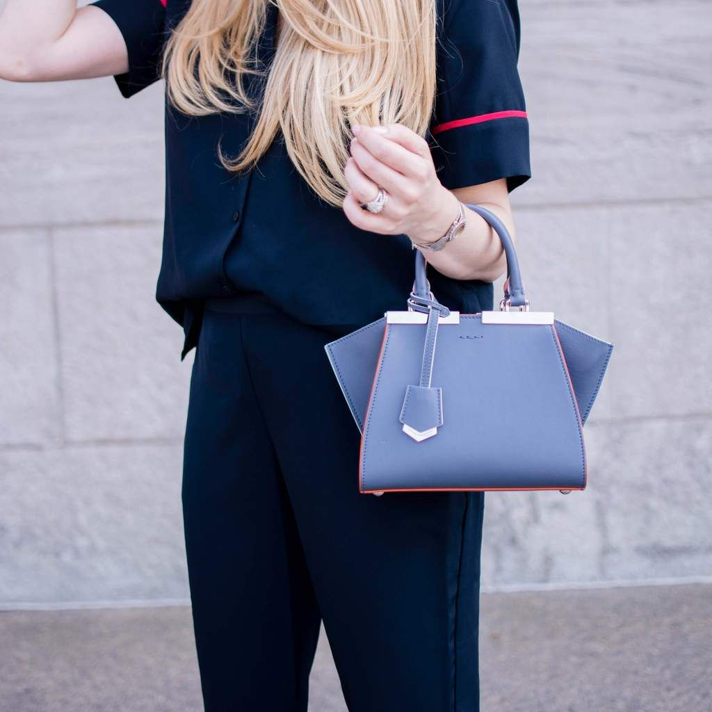 40e1171097b Fendi Myrtle Blue Calfskin Mini 3jours Shopper - LOVE that BAG - Preowned  Authentic Designer Handbags