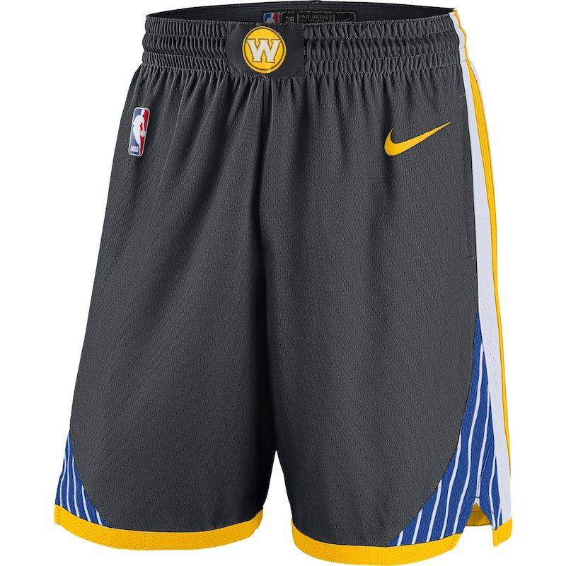 605ca7af4b47 Golden State Warriors Nike 2018 19 Statement Edition Swingman Shorts - Gray