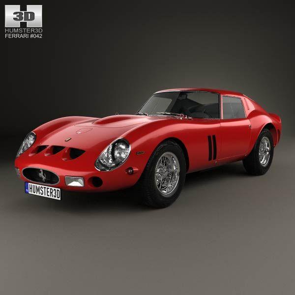 3d Model Of Ferrari 250 Gto Series I 1962 Gto Ferrari Car 3d
