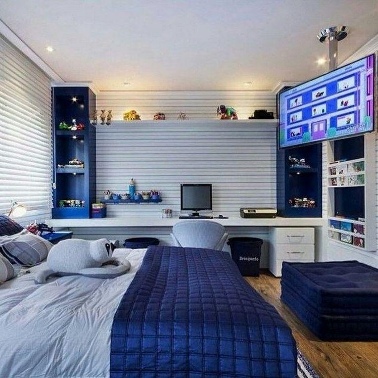 60 Amazing Cool Bedroom Ideas For Teenage Guys Small Rooms 40 Affordable Bedroom Decor Teenage Boy Room Boys Room Decor