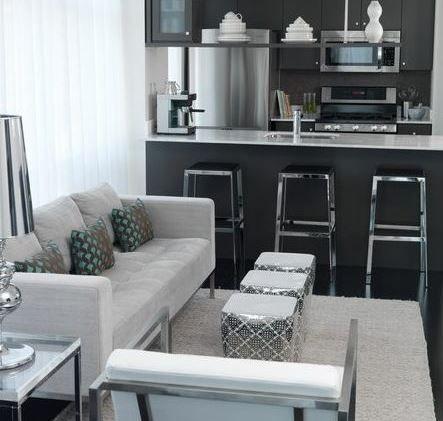 30 ideas for small living rooms 30 ideas para salas for Muebles de sala modernos para espacios pequenos