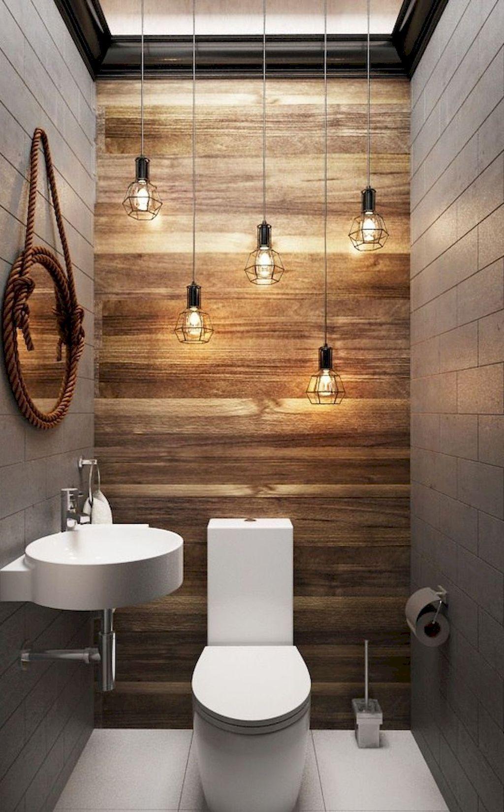 22 Ways To Boost And Refresh Your Bathroom By Adding Wood Accents: Cool 75 Modern Farmhouse Bathroom Decor Ideas Https://decorapartment.com/75-modern-farmhouse-ba