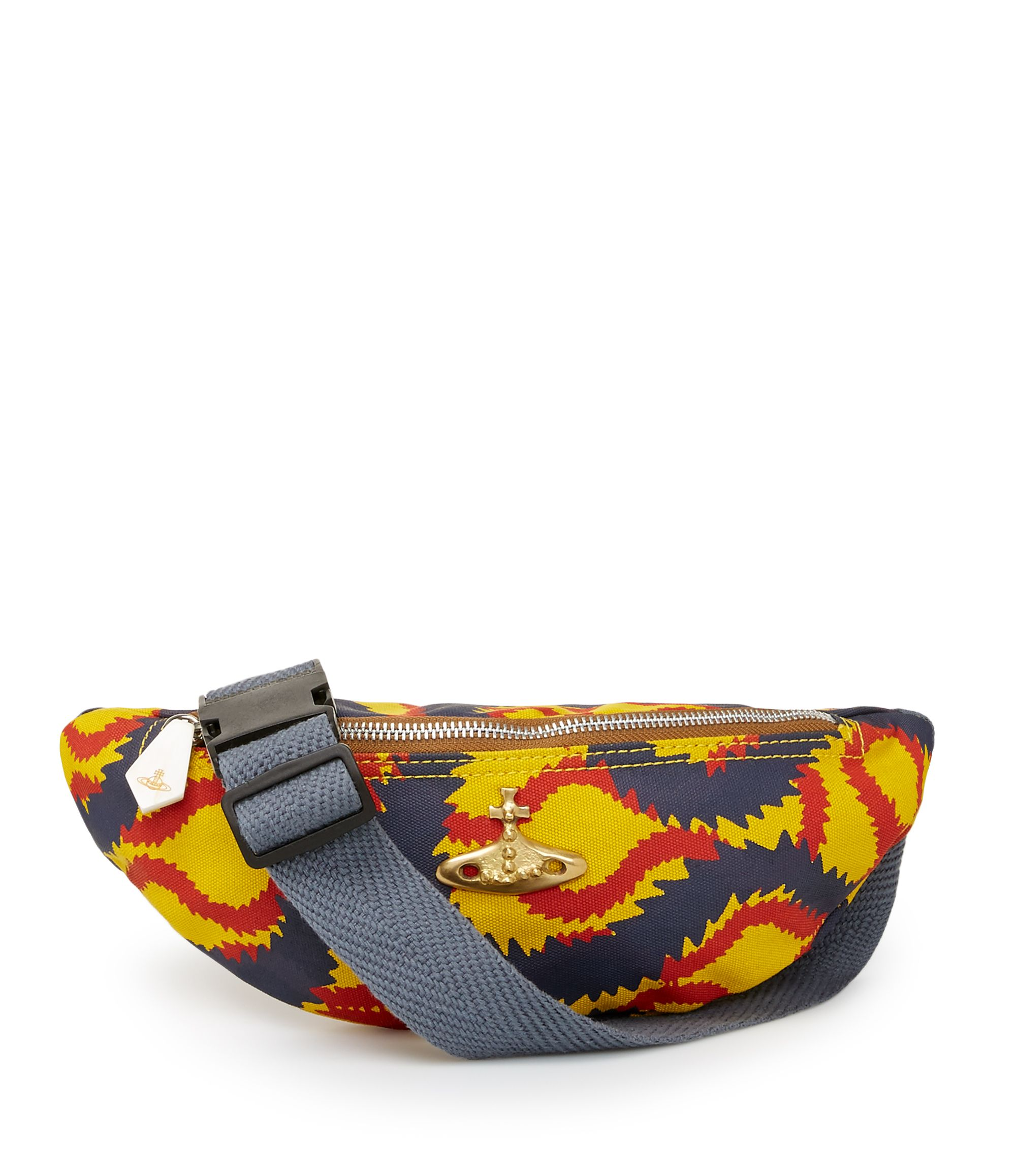 VIVIENNE WESTWOOD Squiggle Bum Bag. #viviennewestwood #bags #belt bags #canvas #denim #cotton #