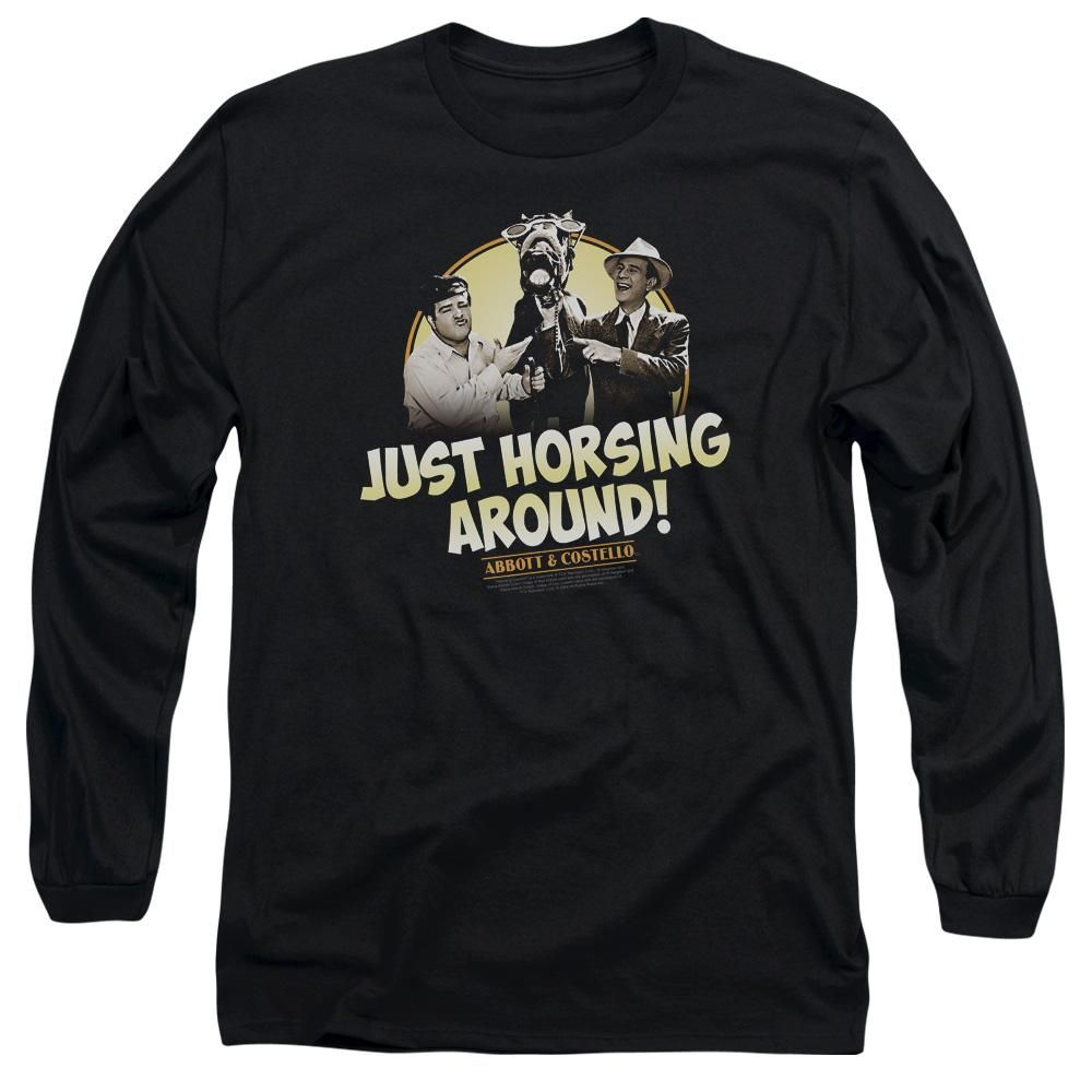 Abbott & Costello - Horsing Around Long Sleeve Adult 18/1