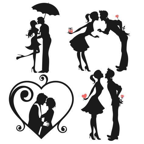 Love Couple Svg Cuttable Designs Mariage Dessin Cartes à Fabriquer Bricolage Avec De La Récup
